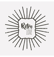 frame retro style icon isolated icon design vector image