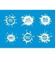 Milk badges set White Splash and blot vector image