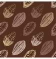 Seamless pattern with cocoa beans vector image vector image