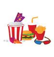 cinema symbols isolated on white background vector image