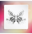 Butterfly as graphic design element vector image vector image