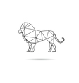 Lion abstract isolated vector image vector image