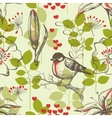 bird and lilies wallpaper vector image vector image