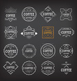Coffee menu logo template vintage geometric badge vector image