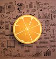 Business infographics - fresh orange idea vector image