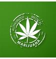 Authorized medical marijuana grunge rubber stamp vector image