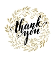 Thank you golden lettering design vector image