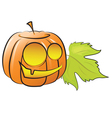 pumpkin decorating for Halloween vector image vector image