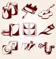 Home repair icons vector image vector image