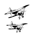 Aircraft silhouettes icons vector image