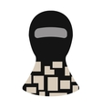 Balaclava winter face protection hat flat clothes vector image