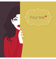 beauty girl background lines vector image