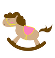 Brown Toy Horse vector image