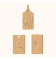 Brown wooden cutting vector image