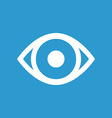 eye icon white on the blue background vector image