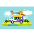 Fast food restaurant car Food festival outdoor vector image