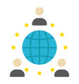global partnership flat icon business vector image