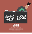 Hand Pick Up Vinyl From The Box vector image