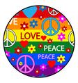 Hippie button vector image