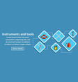 instruments and tools auto banner horizontal vector image