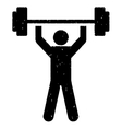 Power Lifting Grainy Texture Icon vector image