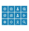 Target icons on blue background vector image