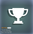Trophy Cup icon On the blue-green abstract vector image