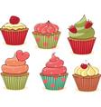 yummy cupcakes vector image