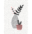 Concrete Vase and Pink Pot vector image vector image