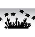 Graduates People throw square academic cap vector image