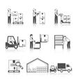 Warehouse Icon Black vector image