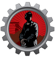 coal miner badge vector image vector image