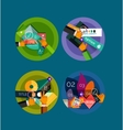 Set of flat design circle infographic icons vector image