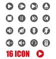 grey sound icon set vector image vector image