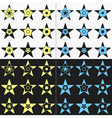 Set of flat color stars vector image