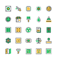 User Interface and Web Colored Icons 11 vector image