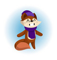 a cute fox in scarf and hat vector image