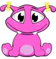 a cute pink monster vector image