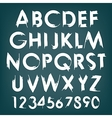 alphabet typography set with numbers vector image