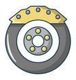 car disk brake icon cartoon style vector image