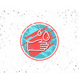 cleaning rubber gloves line icon hygiene sign vector image