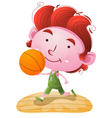 Kids Playing Basketball vector image