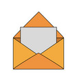 mail open symbol vector image