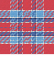 Seamless pattern Scottish tartan red and blue vector image