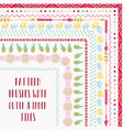 pattern brushes with outer and inner corner vector image vector image