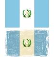 Guatemala grunge flag vector image vector image