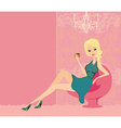 coffee break young woman in home vector image