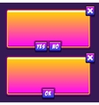 Space game interface panels ui buttons vector image