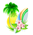 summer insignia vector image vector image