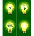 eco bulb collection vector image vector image